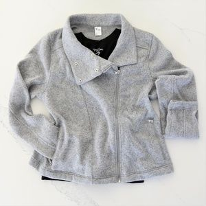 Moto Jacket - Light Grey, Large || Old Navy Active